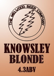 KNOWSLEY BLONDE 4.6 ABV – Crisp, refreshing pale ale using only Atlas hops – a hybrid of Brewers Gold and Slovenian Wild Hop.  This beer has a fresh hoppy aroma with a pleasant bitter taste.