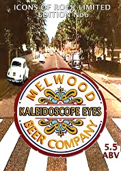 "KALEIDOSCOPE EYES 5.5 ABV - Pale IPA style beer with Pioneer & Amarillo hops ""picture yourself on a boat on a river, with tangerine dreams and marmalade skies......"""