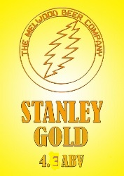 Stanley Gold 4.3 ABV– Triple American hopped with Cascade, Centennial and Amarillo giving this beer a crisp hoppy flavour and a beautiful citrus aroma; a well-balanced but complex, refreshing beer.